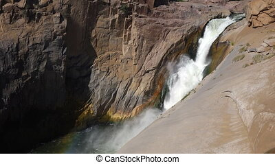 Augrabies waterfall - South Africa - View of the Augrabies...