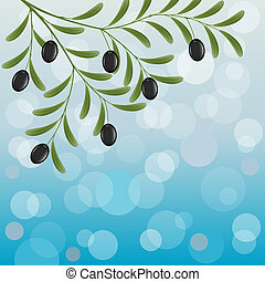 Olive branch - Floral background with an olive branch