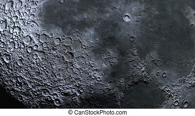 Moon surface craters extreme closeup - absolutely realistic