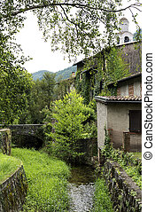 Riva San Vitale (Ticino, Switzerland) - Old stone bridge at...