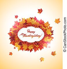 Happy Thanksgiving card - Elegant Thanksgiving background