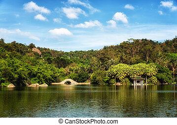Xiamen botanical garden and Wanshi lake