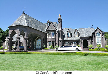 Real estate wealth - Mansion at a winery in Sonoma,...