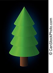 coniferous tree, - coniferous tree , Vector silhouette of...