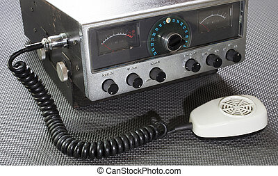 Emergency two way radio - Old citizens band radio on a...