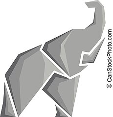 stylized vector image of an elephant