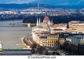 Aerial view of Budapest, Hungary