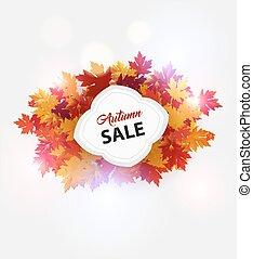 Elegant autumn leaves banner