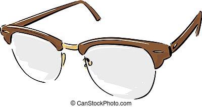Reading Glasses Fashion Style Illustration