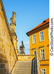 Architecture in historical center of Prague. Prague is the...