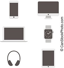 Computer icons set. Vector - Set of computer icons. Vector...