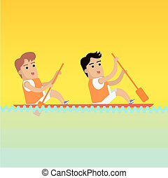 Canoe Rowing, Sports Banner