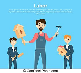 Subject of Labor Education Conceptual Banner - Subject of...