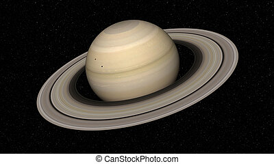 Saturn - 3d rendering of the planet Saturn. Elements of this...