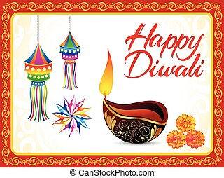 abstract artistic detailed diwali background vector...