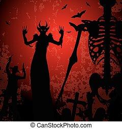 dia das bruxas, fundo