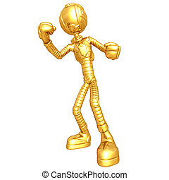 Gold Guy Astronaut - A 3D concept and presentation figure