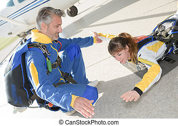 training for skydiving