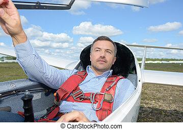 Man in glider