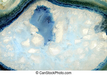 Close up of a turquoise stone - Close up of a blue and...