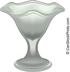 glass Ice cream - crystal glass for fresh and frozen foods