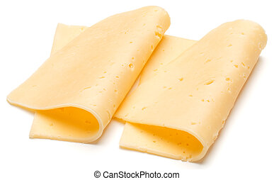 cheese slices isolated on white background cutout
