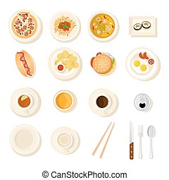 Fast Food And Drink Icon Set