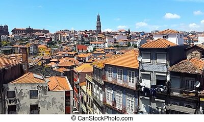 Porto old city day time landscape, Portugal