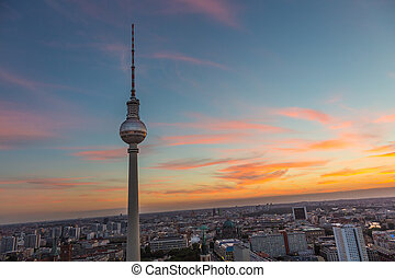 Panoramic view of Berlin, Germany. - Panoramic view over...