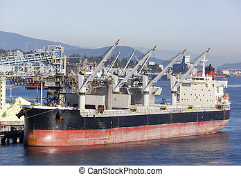 Vancouver's Shipping Industry - The cargo ship ready to get...