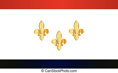 New Orleans City Flag - Flag of the USA city of New Orleans