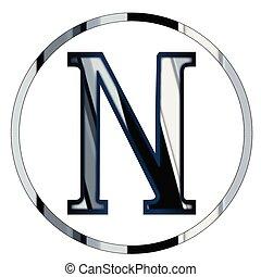 Nu Greek Letter - Nu a letter from the Greek alphabet...