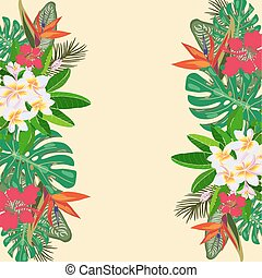 Tropical vector illustration with