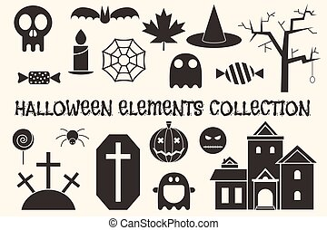 Halloween Outline Objects