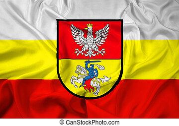 Waving Flag of Bialystok, Poland
