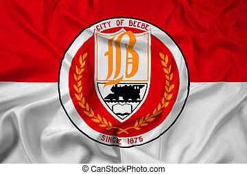 Waving Flag of Beebe, Arkansas, USA