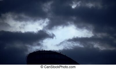 Dramatic sky with stormy clouds - Dramatic sky with the...