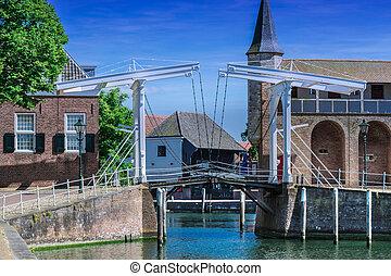 Double Drawbridge in Netherlands Zierikzee.