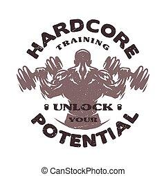 Hardcore training Emblem. - Hardcore training Emblem t-shirt...