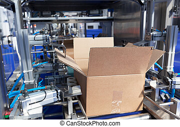 Cardboard package box packing machine - Automatic cardboard...