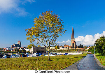 View to a church in Rostock