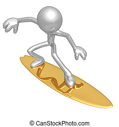 Surfing - A Concept And Presentation Figure In 3D