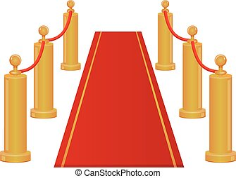Red carpet entrance vector icon