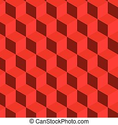 abstract red cube pattern