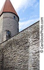 ancient castle - individual elements of an old stone castle