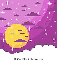 Night background Vector - The night the starry sky beautiful...