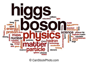 Higgs boson american word cloud - Higgs boson word cloud...