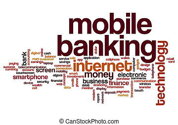 Mobile banking word cloud concept
