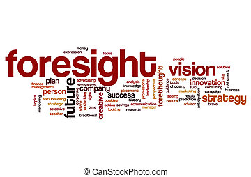 Foresight word cloud concept