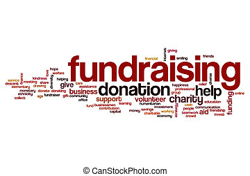 Fundraising word cloud concept